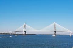 亚瑟桥梁查尔斯顿ravenel 免版税库存照片