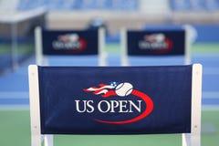 亚瑟Ashe体育场在比利・简・金国家网球中心准备好美国公开赛比赛 库存图片