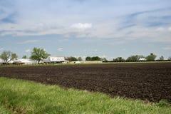 亚瑟Illnois门诺派中的严紧派的农场土地 库存图片