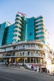 亚的斯亚贝巴,埃塞俄比亚, 2014年1月30日,下来现代大厦 库存照片