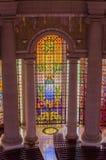 亚穆苏克罗,象牙海岸- 2014年2月01日:我们的夫人和平,非洲基督徒大教堂著名地标大教堂  免版税库存图片