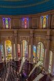 亚穆苏克罗,象牙海岸- 2014年2月01日:我们的夫人和平,非洲基督徒大教堂著名地标大教堂  免版税库存照片