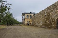 亚美尼亚中世纪修道院Amaras,纳戈尔诺钾防御墙壁  免版税库存图片