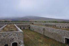 亚美尼亚中世纪修道院Amaras,纳戈尔诺钾防御墙壁  免版税图库摄影