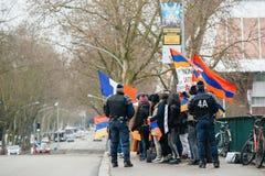 亚美尼亚人和土耳其犹太人散居地抗议 库存照片
