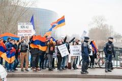 亚美尼亚人和土耳其犹太人散居地抗议 免版税库存图片
