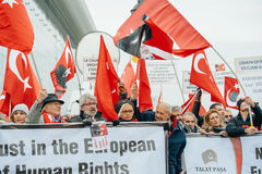 亚美尼亚人和土耳其犹太人散居地抗议 免版税图库摄影
