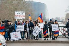 亚美尼亚人和土耳其犹太人散居地抗议 图库摄影