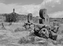 亚美尼亚信件的纪念碑 图库摄影