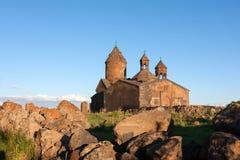 亚美尼亚古老Saghmosavank教会 免版税图库摄影