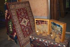 亚美尼亚地毯 覆盖着编织,是其中一个亚美尼亚装饰和工艺美术的种类 免版税库存照片