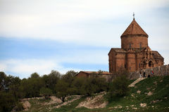 亚美尼亚大教堂在范City,土耳其 免版税库存图片