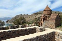 亚美尼亚大教堂在范City,土耳其 库存图片