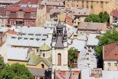 亚美尼亚大教堂的合奏在利沃夫州,乌克兰 库存图片