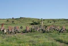 亚美尼亚字母表纪念碑 图库摄影