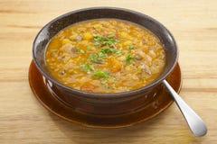 亚美尼亚扁豆汤蔬菜 免版税库存照片