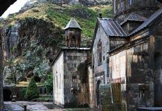 亚美尼亚洞庭院gegard修道院 免版税库存图片