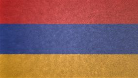 亚美尼亚的旗子的原始的3D图象 库存图片
