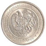 100亚美尼亚美元硬币 免版税库存照片