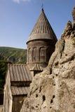 亚美尼亚老geghard monastyr 图库摄影