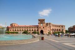 亚美尼亚耶烈万 2016年8月17日:亚美尼亚政府房子 库存照片