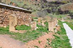 亚美尼亚语Khachkars,跨石头 免版税库存照片