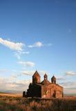 亚美尼亚高sagmosavank天空 库存图片