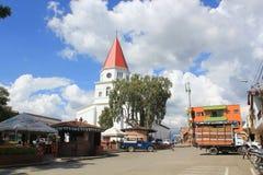 亚美尼亚,安蒂奥基亚省,哥伦比亚的公园的建筑学 免版税库存照片