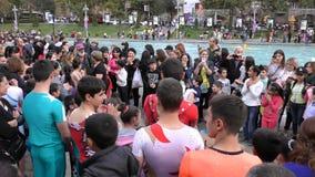 亚美尼亚,杂技在耶烈万 免版税图库摄影