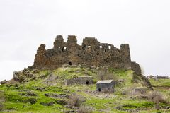 亚美尼亚, Ambert堡垒 免版税库存图片