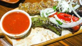 亚美尼亚kebab混合 库存图片