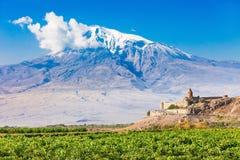 亚美尼亚khor修道院virap 库存图片