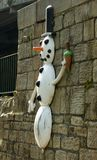 亚耳雕塑足迹雪人 库存照片