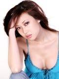 亚裔严重的妇女 库存照片