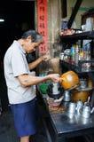 亚裔人,咖啡店,私人企业 免版税库存图片