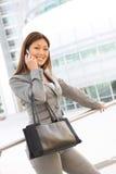 亚裔企业电话妇女 免版税库存图片