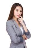 亚裔企业纵向妇女 免版税库存图片