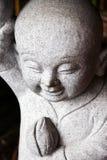亚裔佛教逗人喜爱的修士 库存照片