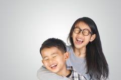亚裔兄弟和姐妹 图库摄影