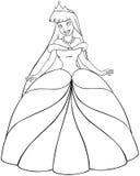 亚裔公主Coloring Page 免版税库存图片