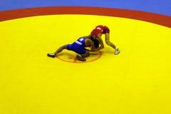 亚裔军校学生搏斗的冠军2011年 免版税库存照片