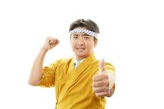 亚裔厨师 库存图片