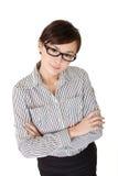 亚裔可爱的女商人 库存图片