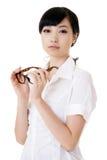 亚裔可爱的女商人 库存照片