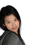 亚裔可爱的妇女 免版税库存照片