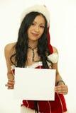 亚裔圣诞节妇女 免版税库存图片