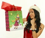 亚裔圣诞节礼品妇女 库存图片