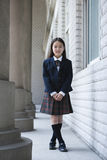 亚裔基本女小学生 免版税库存图片