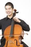 亚裔大提琴手 库存图片