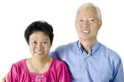 亚裔夫妇前辈 图库摄影